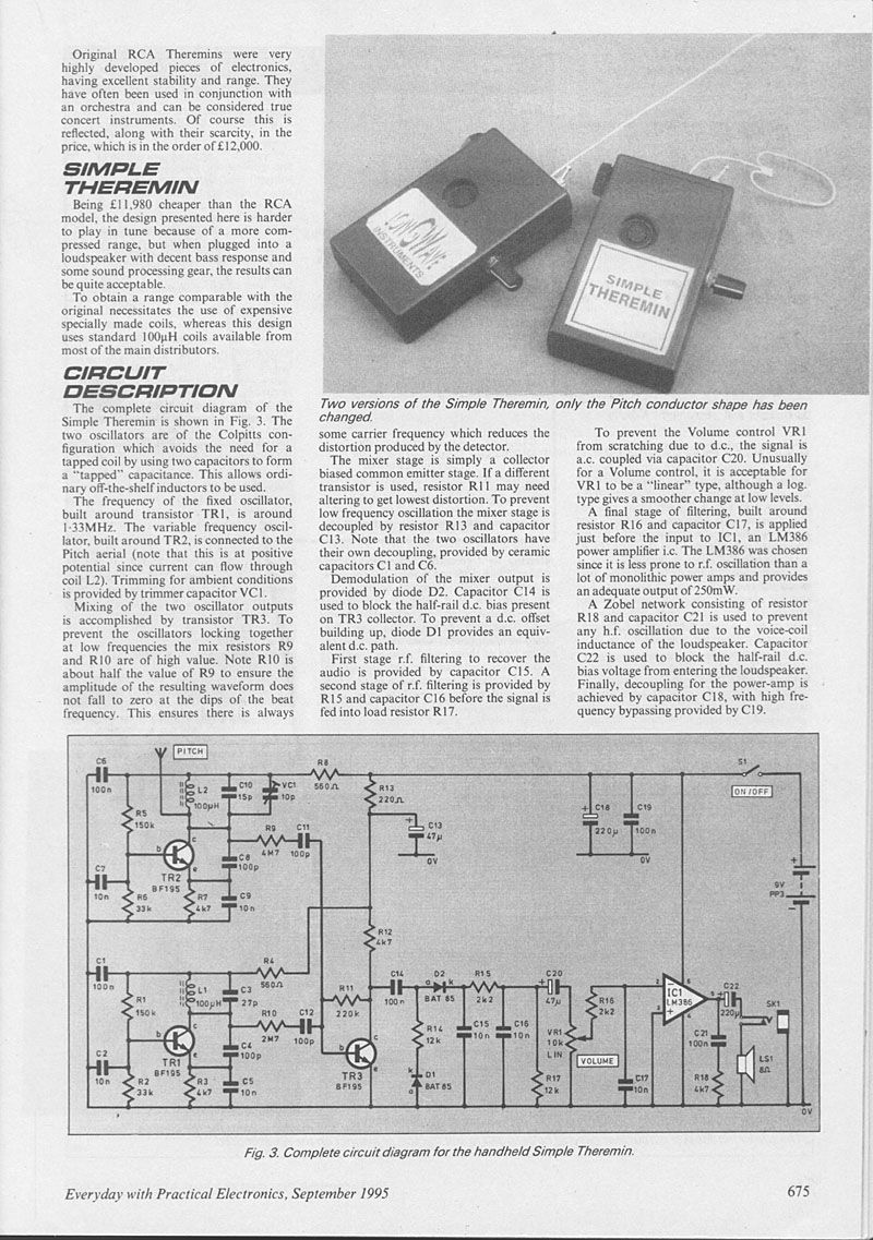 Pin Theremin Circuit Schematic Diagram On Pinterest Wiring Society Vacuum Tube Electronic Page2 8001137 Diy