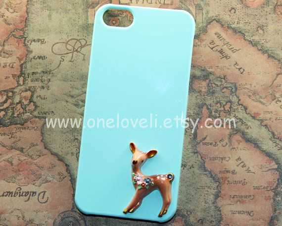 Merry ChristmasCute deer elk antlers with mint green by OneLoveLi, $9.99