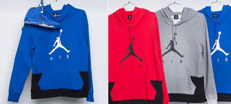 96ba033d3fe144 Jordan Jumpman Air Pullover Hoodies to Match Recent Air Jordan 5 Retro  Releases
