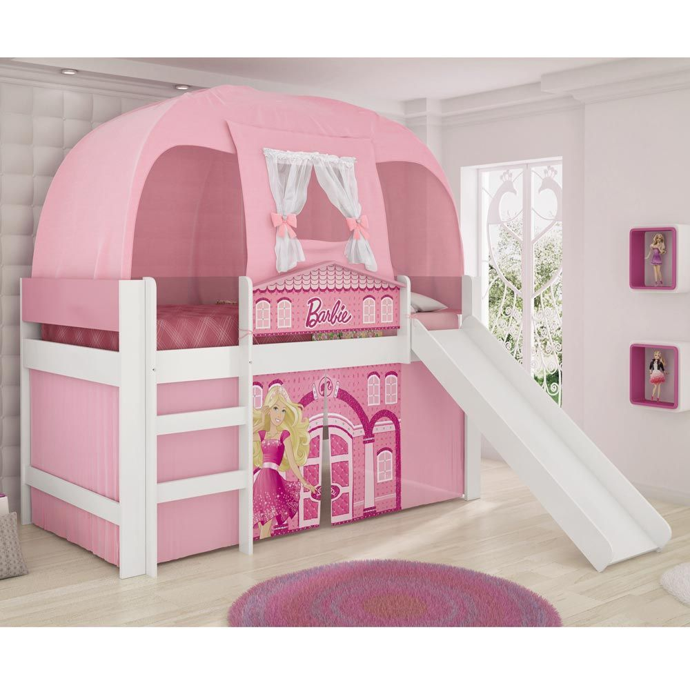 Gostou desta Cama Barbie Play 5a Rosa C/Escorregador e Barraca ...