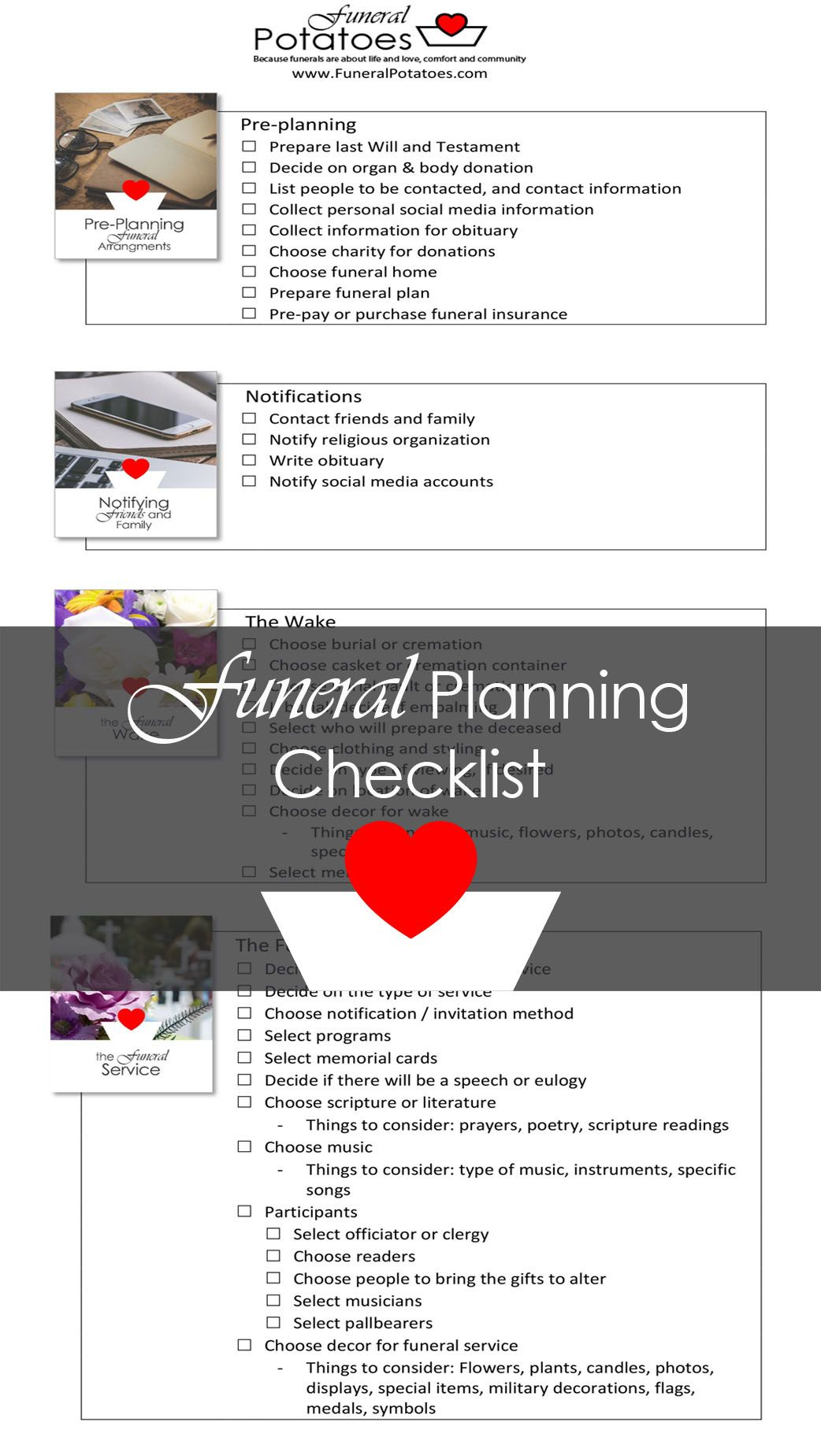 funeral planning checklist and memorial planning checklist free