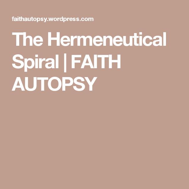 The Hermeneutical Spiral | FAITH AUTOPSY