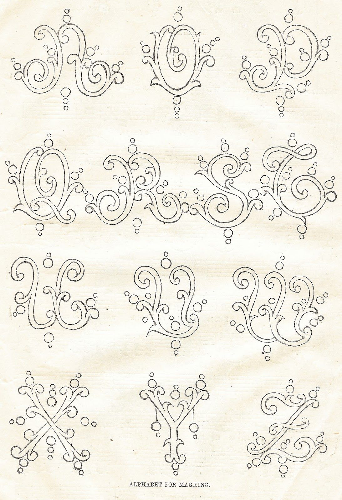Antique Graphics Wednesday Three 1800 S Antique Alphabet Fonts Knick Of Time Embroidery Patterns Vintage Fonts Alphabet Embroidery Alphabet