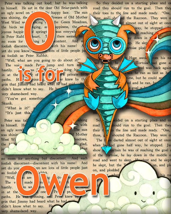 ec2a98a4afbcc Baby Dragon Nursery Decor Personalized Name Print Recycled Paper 5 x 7  inches