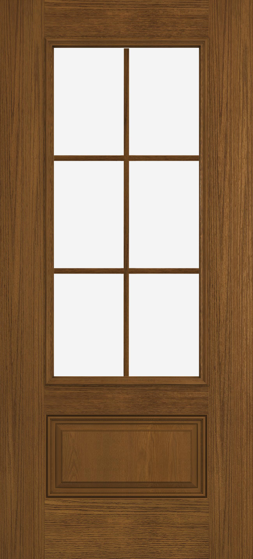Design Pro Fiberglass Exterior Doors Oak 3 4 View 6 Light 1 Panel Glass Panel Reliable And E Fiberglass Exterior Doors Exterior Doors Energy Efficient Door