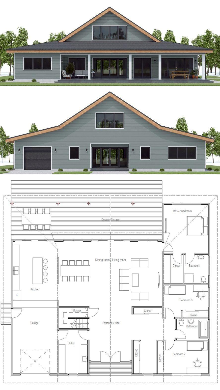 Modern Farmhouse Design Farmhouse Barndominium Homeplans Barn House Plans Barn Style House Barn Homes Floor Plans