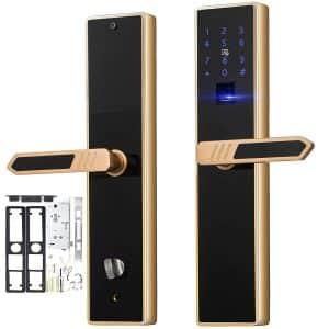 Best Fingerprint Door Locks In 2019 Reviews Fingerprint Locks For Homes And Works Fingerprint Door Lock Door Lock Security Door Locks