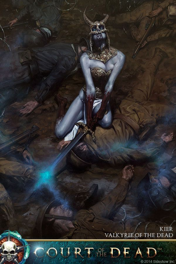 Kier - Valkyrie of the Dead by Dave Palumbo   Court of the Dead