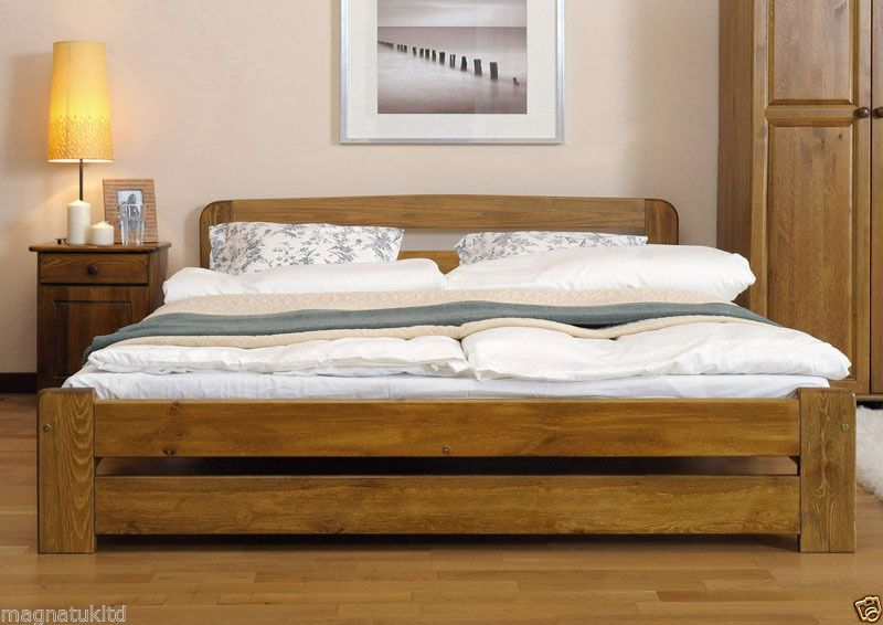 Details About White 3 Piece Storage Drawers Twin Bed Box: Details About Solid Pine Super King Size Bedframe 6ft