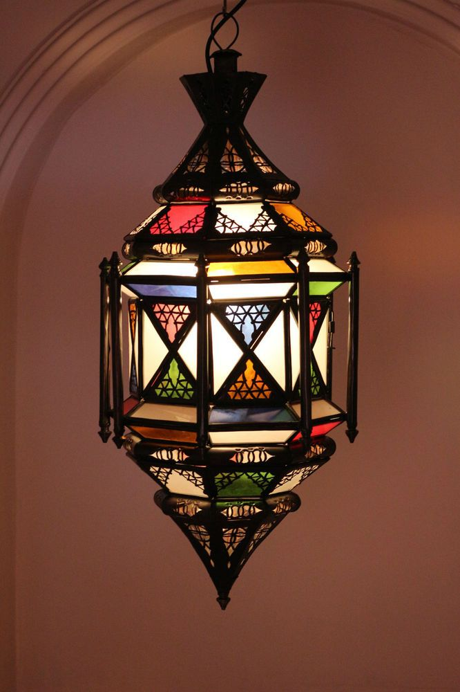 Turkish Moroccan Mosaic Hand Made  Hanging Lamp Lantern