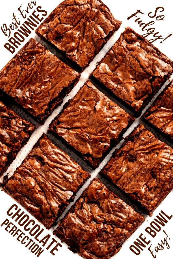 Best Brownies Ever - This really is the Best Brownie Recipe ever! These homemade brownies are the