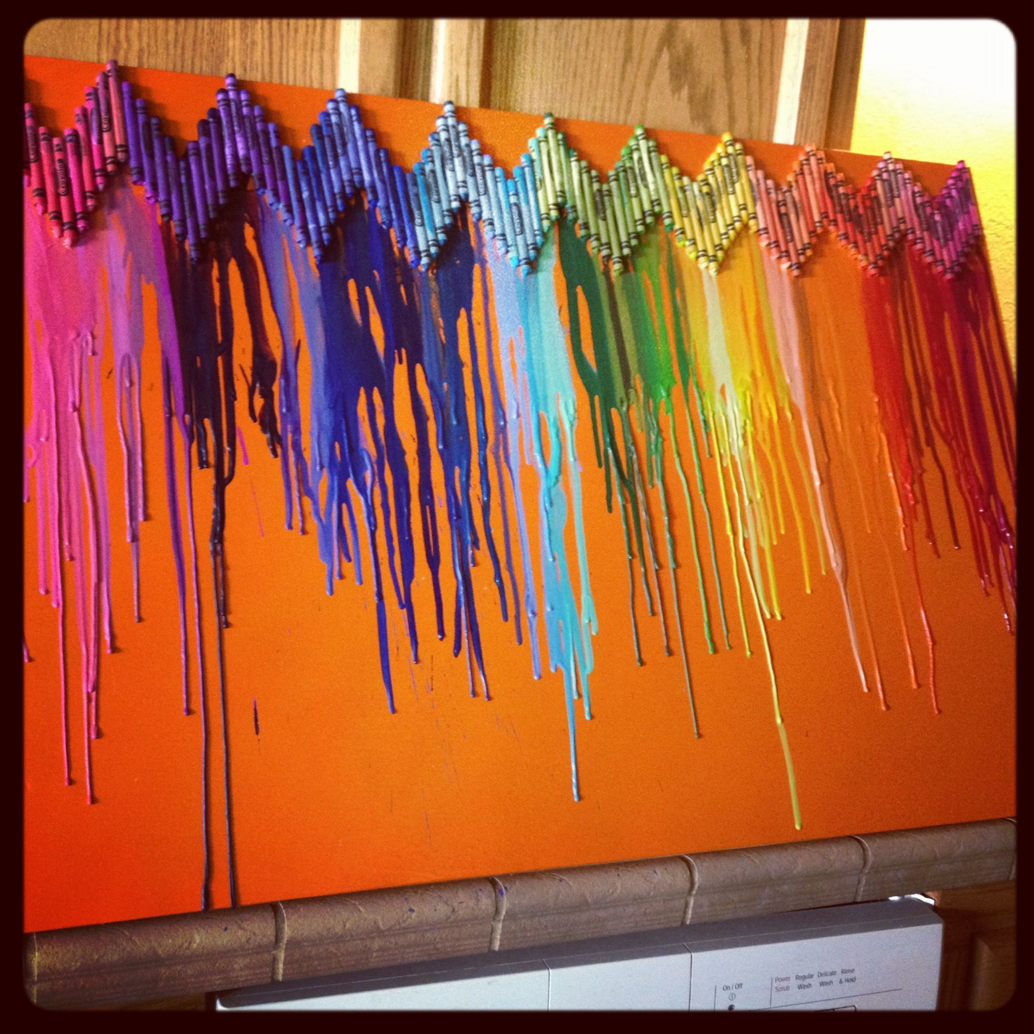 color crayon art : Melted Crayon Art