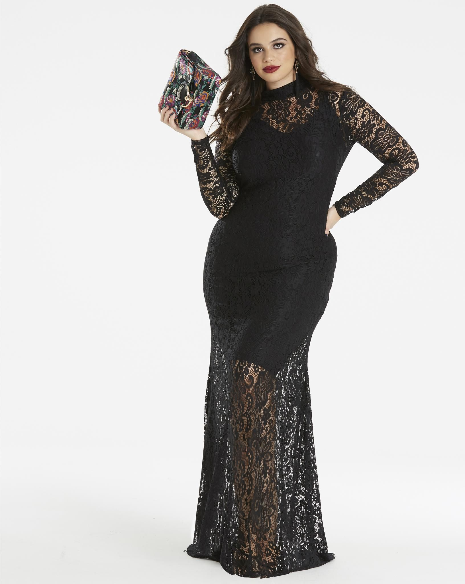 SBN LACE MAXI SimplyBe US Site Black lace maxi dress