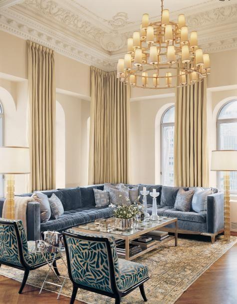 Elegant living room amazing moldings of course simple dramatic