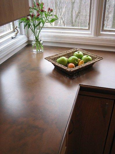 Superior Brown, Matte Concrete Countertops Trueform Concrete Rockaway, NJ