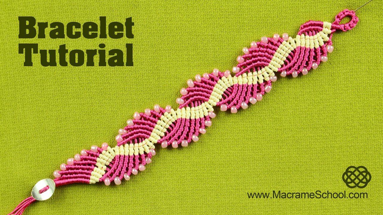 Wavy Lagoon - Macramé Bracelet Tutorial