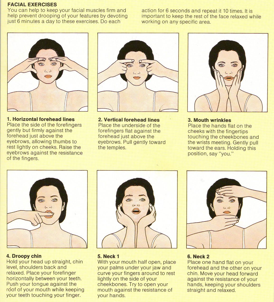 Facial exercise massage