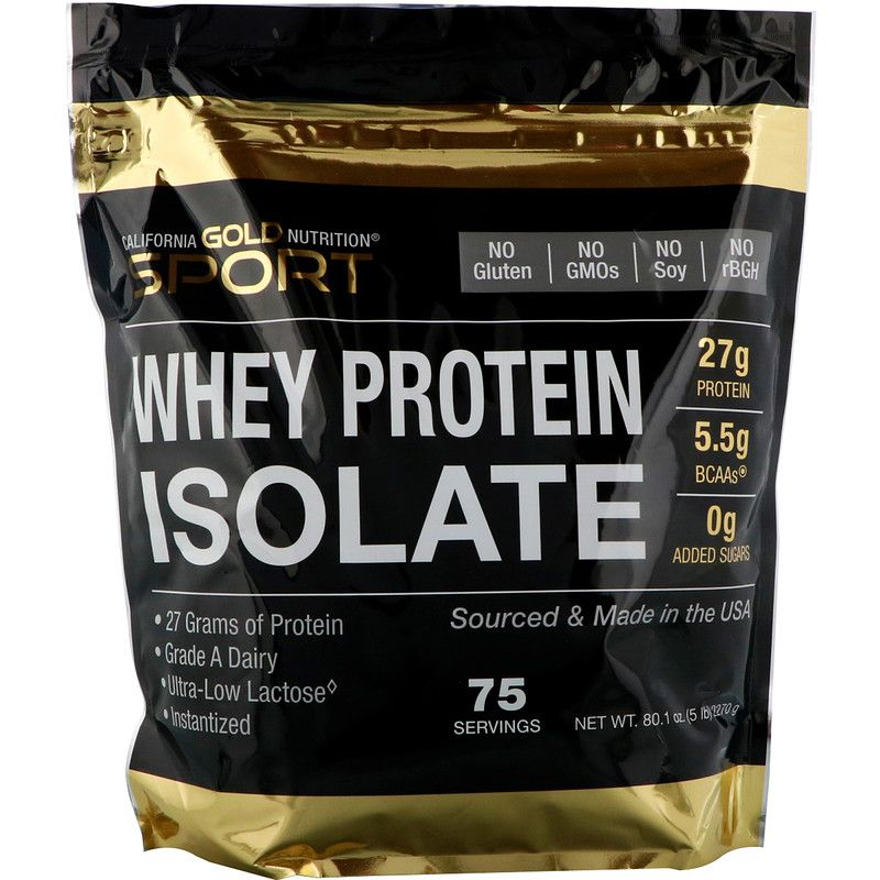 California Gold Nutrition, SPORT, Whey Protein Isolate