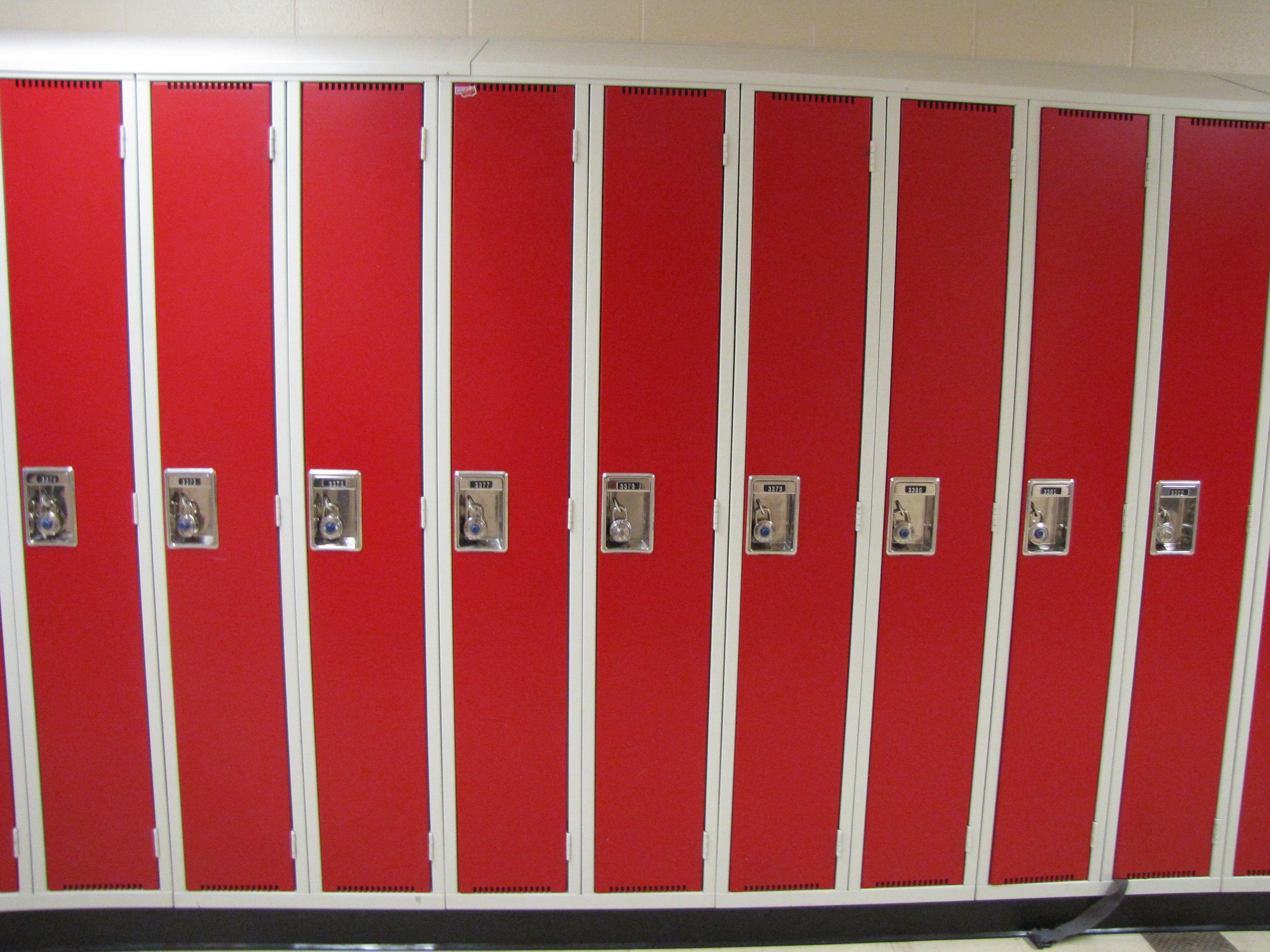 red lockers Locker storage, Lockers, Home decor