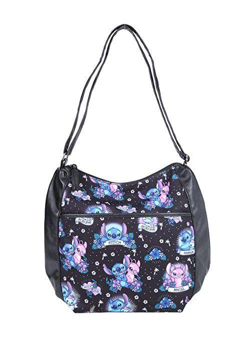 919a5f10b5 Stitch and Angel Print Purse by Loungefly - Disney Lilo & Stitch Tattoo Bag