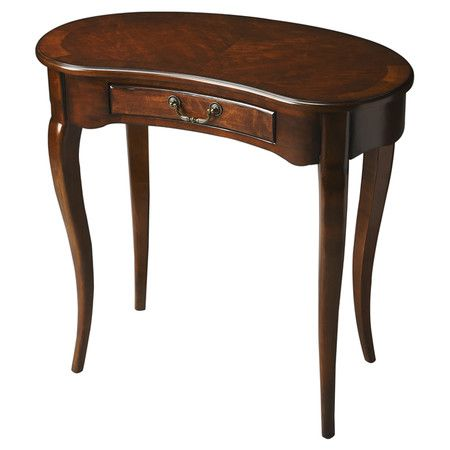 1 Drawer Crescent Shaped Writing Desk With Cabriole Legs And An Antique Cherry Finish Product Writing Deskconstr Writing Desk Furniture Antique Writing Desk
