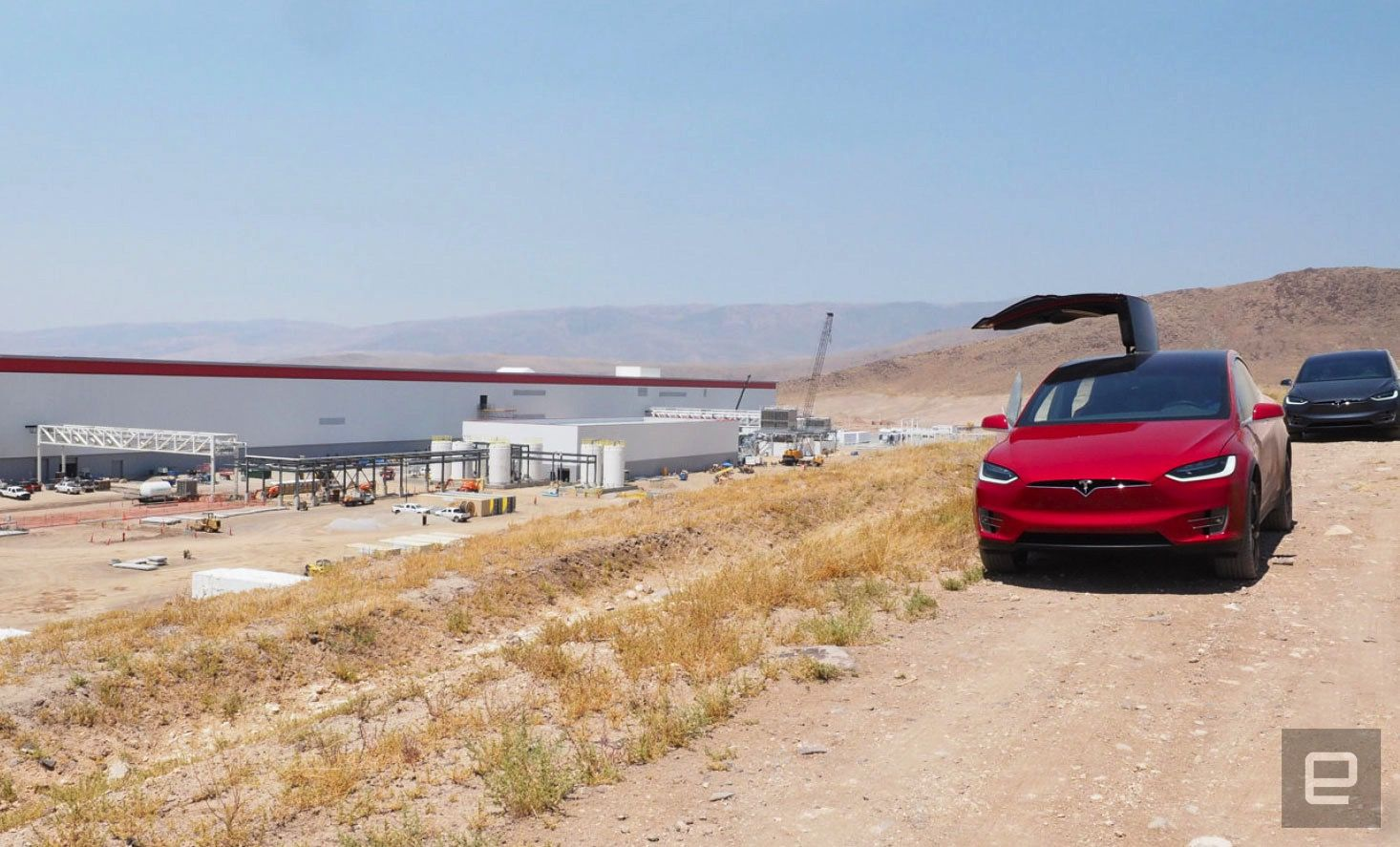 Fire at Tesla's Gigafactory briefly disrupts production