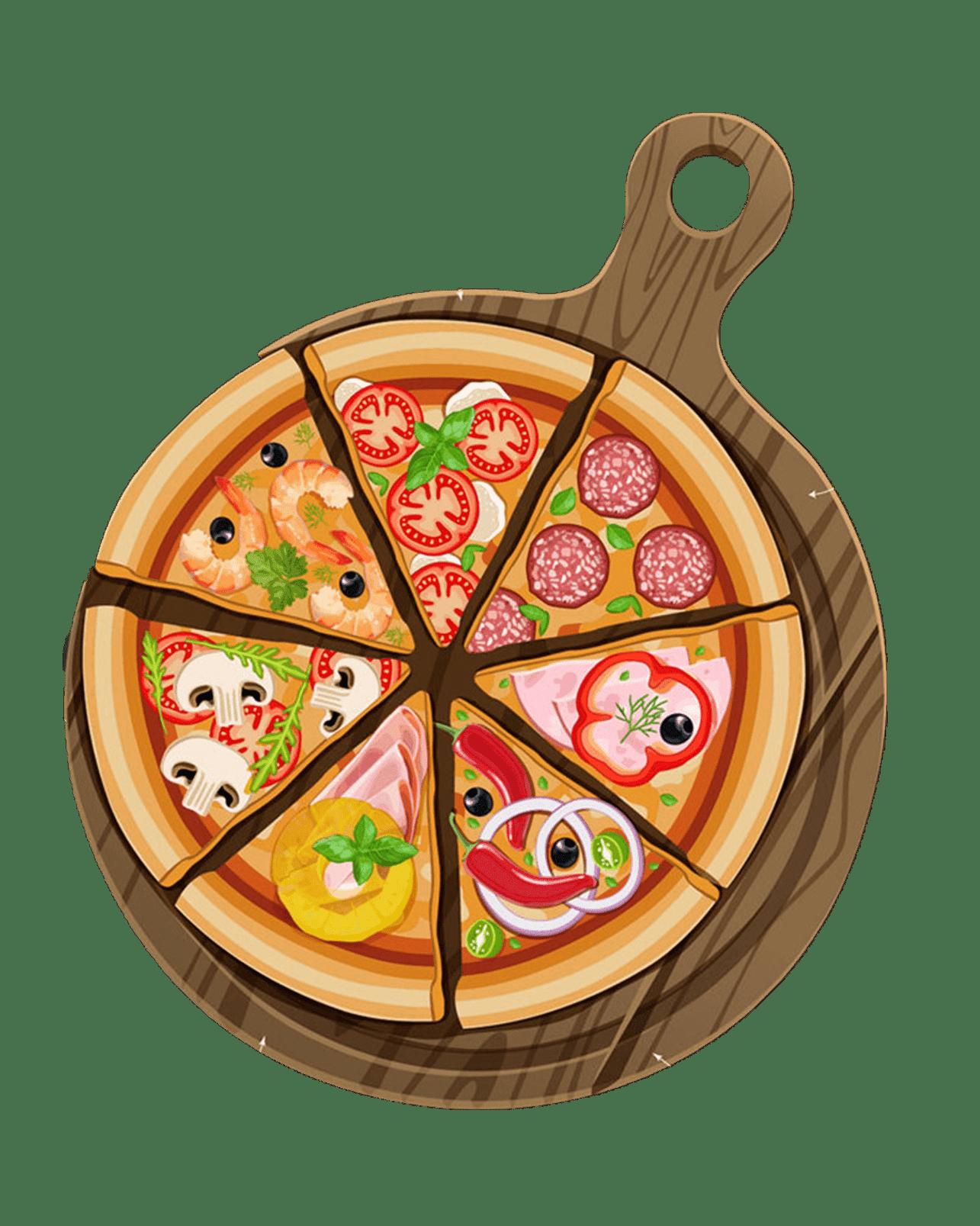 Pizza Slices Clipart Pizza Sicilian Pizza Italian Cuisine Cuisine Fast Food Free Png Images Desenho Festa Italiana Pizza