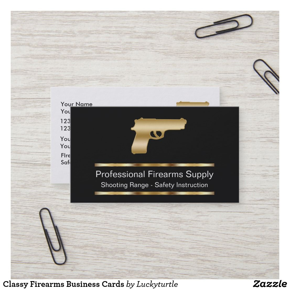 Classy Firearms Business Cards Business