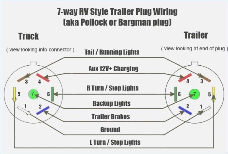 7 Way Trailer Plug Wiring Diagram Gmc within 7 Blade Trailer Connector Wiring  Diagram – Wildness on Tri… | Trailer wiring diagram, Trailer light wiring, Rv  trailers Pinterest