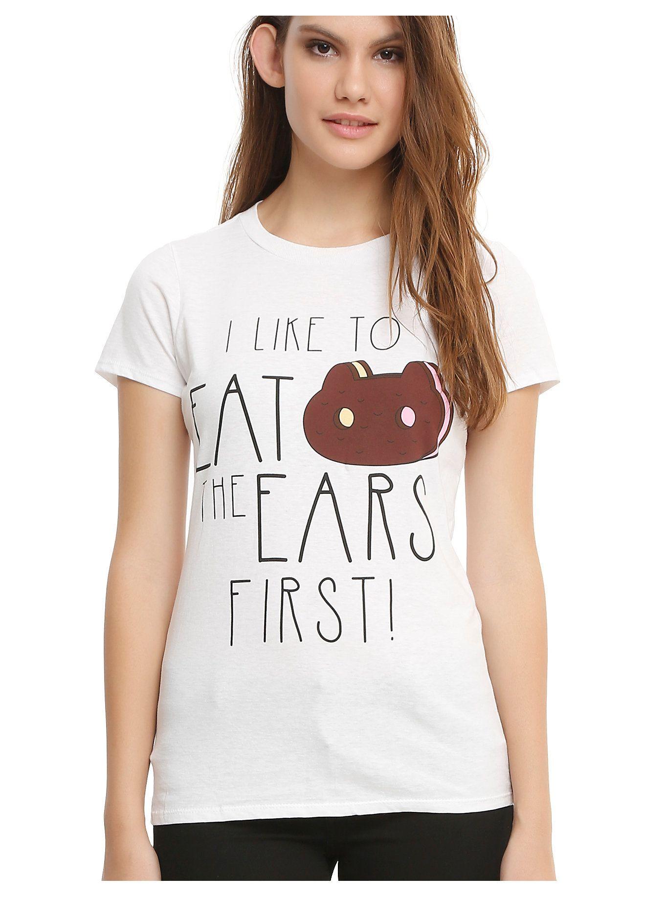 Steven Universe Cookie Cat Ears First Girls T Shirt