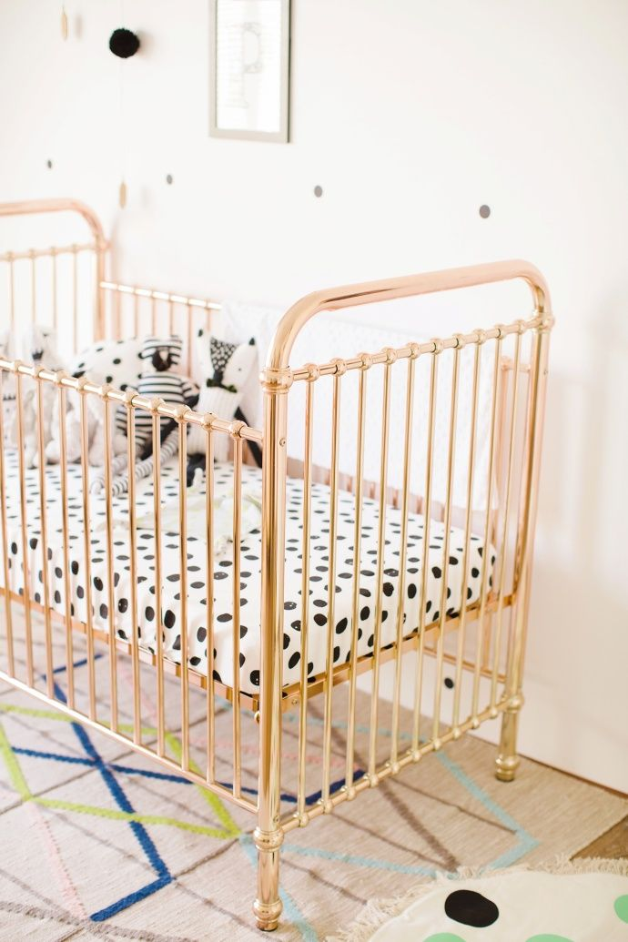 Rose Gold Cot Babies Gold Baby Nursery Cribs Baby