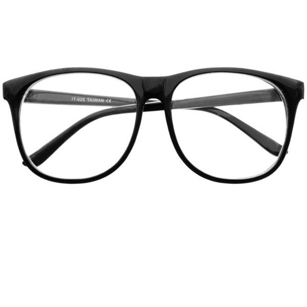 large clear lens retro wayfarer style eyeglasses frames unisex w56 995 liked on