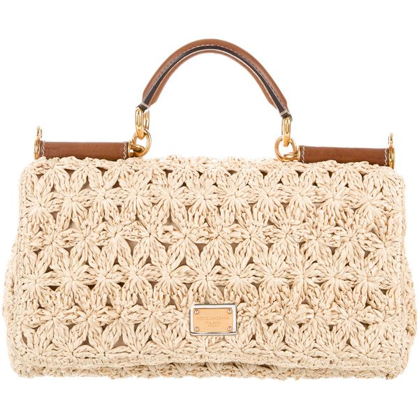 c744937e0c59 Pre-owned Dolce   Gabbana Small Raffia Miss Sicily Bag ( 760) ❤ liked