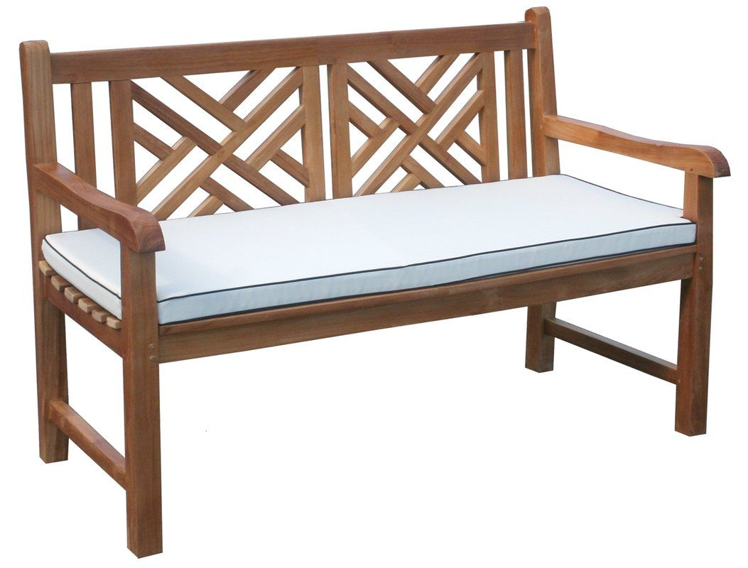 Go shopping for Chippendale Teak Garden Bench with Cushion ...