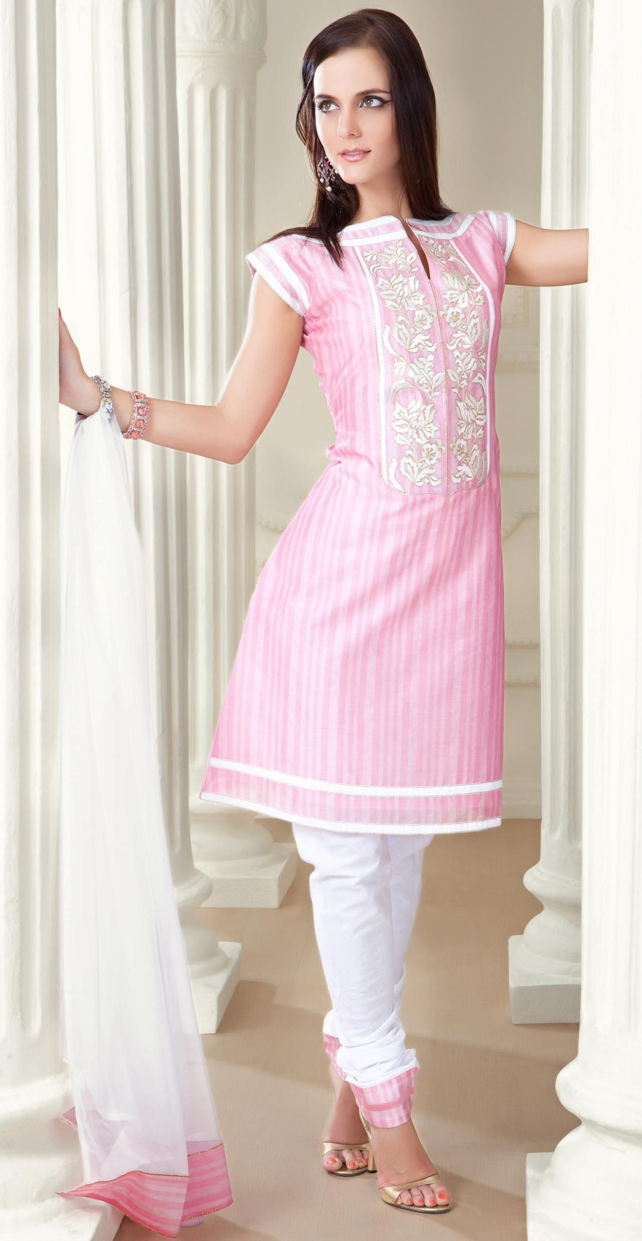 855c2a8a07 Pink Cap Sleeve Art Silk Salwar Kameez Suit 14051   My choice my ...
