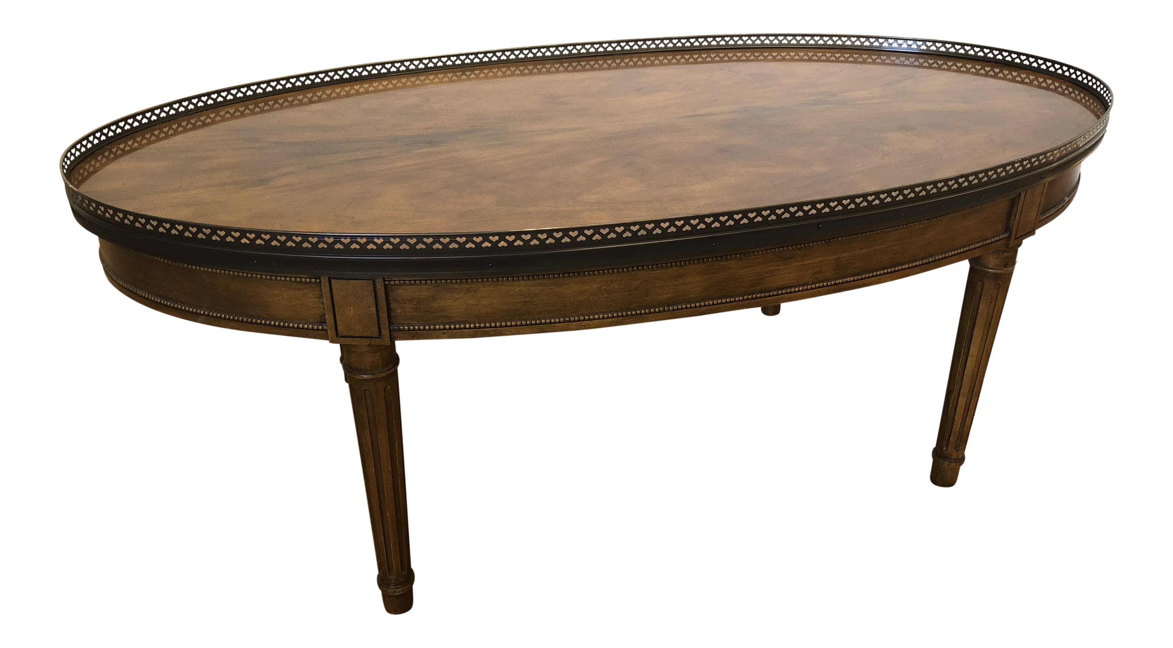 Baker Furniture Regency Style Oval Coffee Table Home Decor Sites