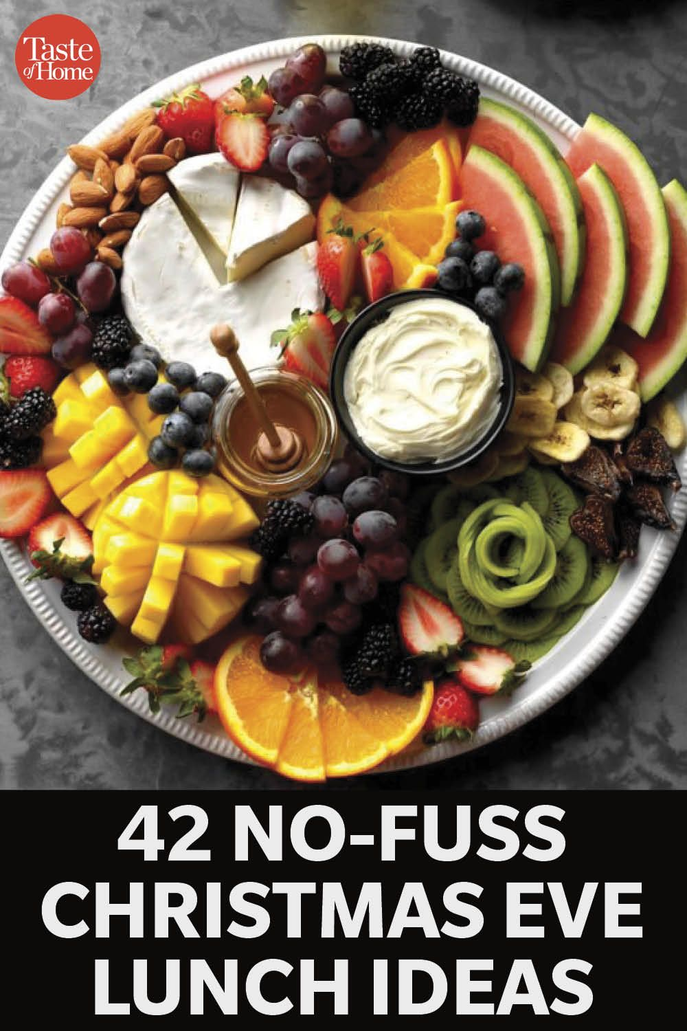 42 No Fuss Christmas Eve Lunch Ideas To Serve Your Guests In 2020 Fruit Cooking For A Crowd Cheese