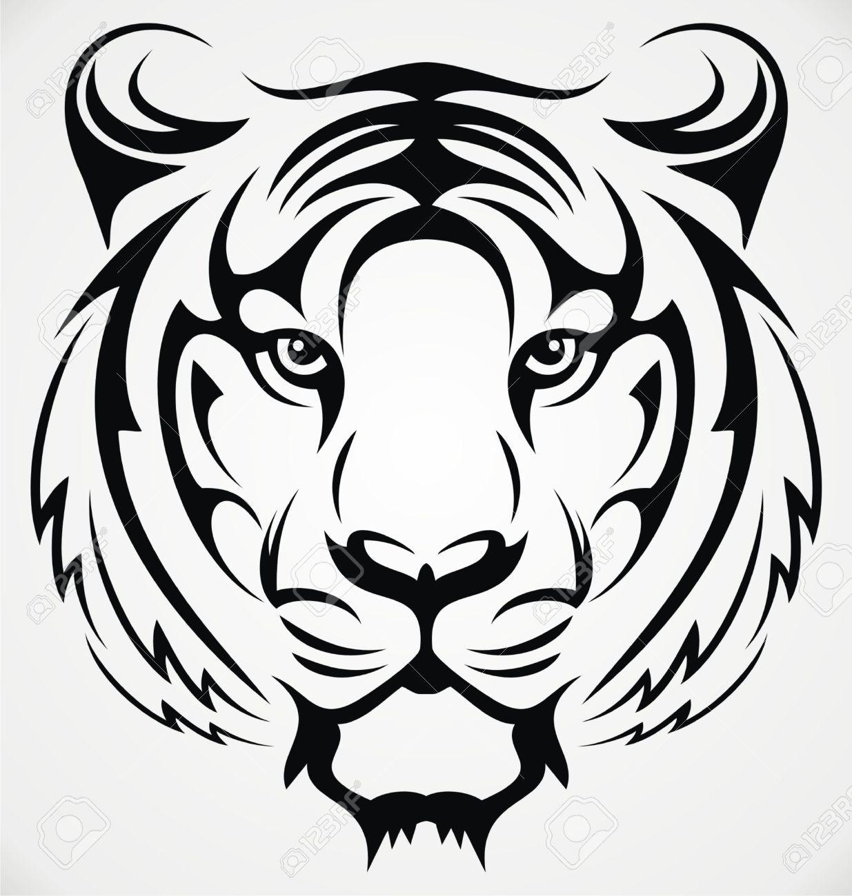 Kartinki Po Zaprosu Tribal Tiger Tattoo Tiger Face Drawing Tribal Tiger Animal Stencil