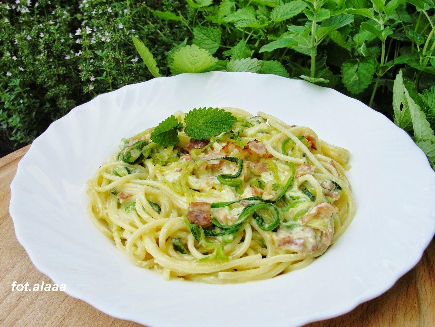 Spaghetti Z Cukinia Ala Carbonara Carbonara Spaghetti Cooking