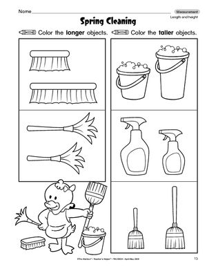 math worksheet : 1000 images about longer  shorter on pinterest  kindergarten  : Length Worksheets For Kindergarten