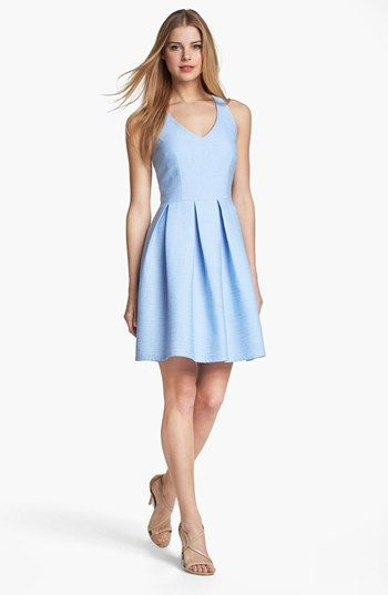 Taylor Dresses Cutout Detail Fit Flare Dress Available At Nordstrom