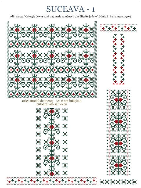 Semne Cusute: iie din BUCOVINA, Suceava - model 1 | cusaturi ...