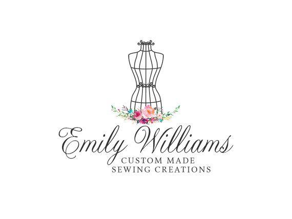 Logotipo de costura preconfeccionados diseño vestido