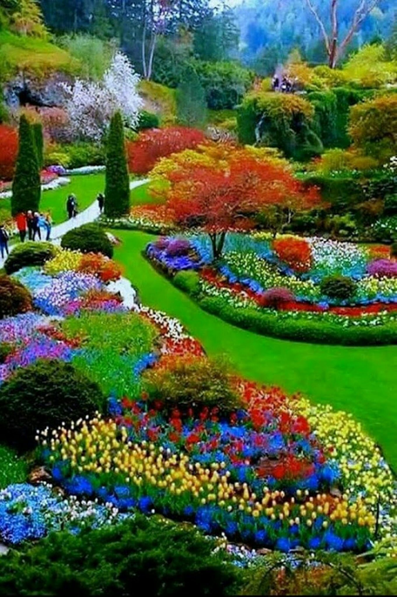 Pin By Bea On Maha 5555 Most Beautiful Gardens Beautiful Gardens Beautiful Flowers Garden
