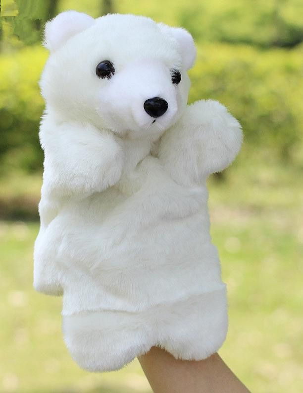 Hand Puppets Plush Puppets Bird Teddy Bear Sheep Pony Horse Lion Doll Fantoche Children Educational Toys Brinquedo Family Toys