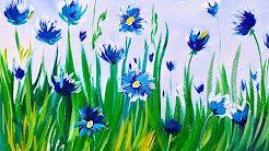 5 Youtube Easy Beginner Paintings Of Spring Flowers