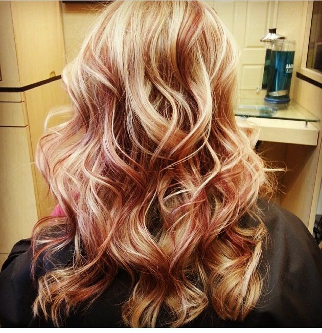 Blonde Red And Carmel Perfect For Fall My New Color