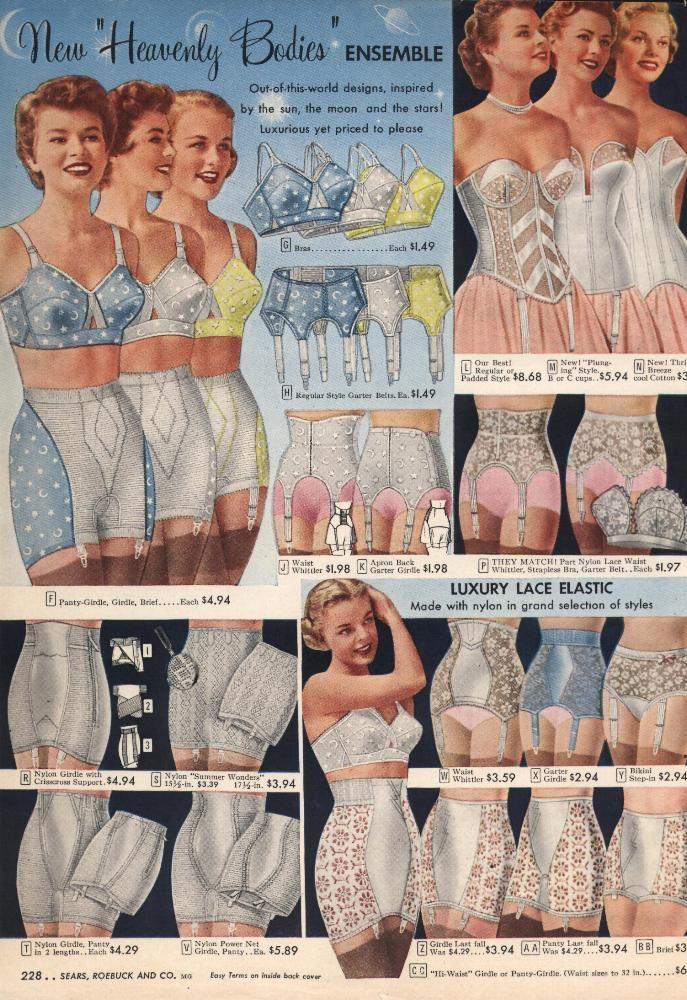 568bac6546 1950s Lingerie History - Bras