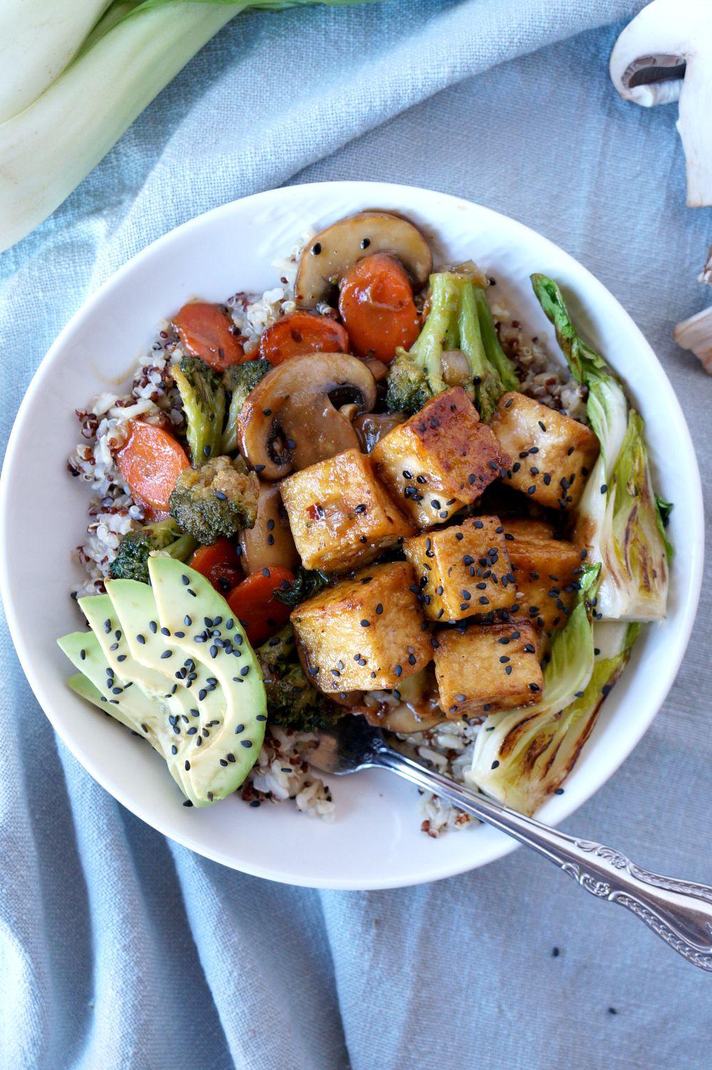 Teriyaki Tofu Quinoa Bowls The Baking Fairy Recipe Teriyaki Tofu Teriyaki Quinoa Bowl
