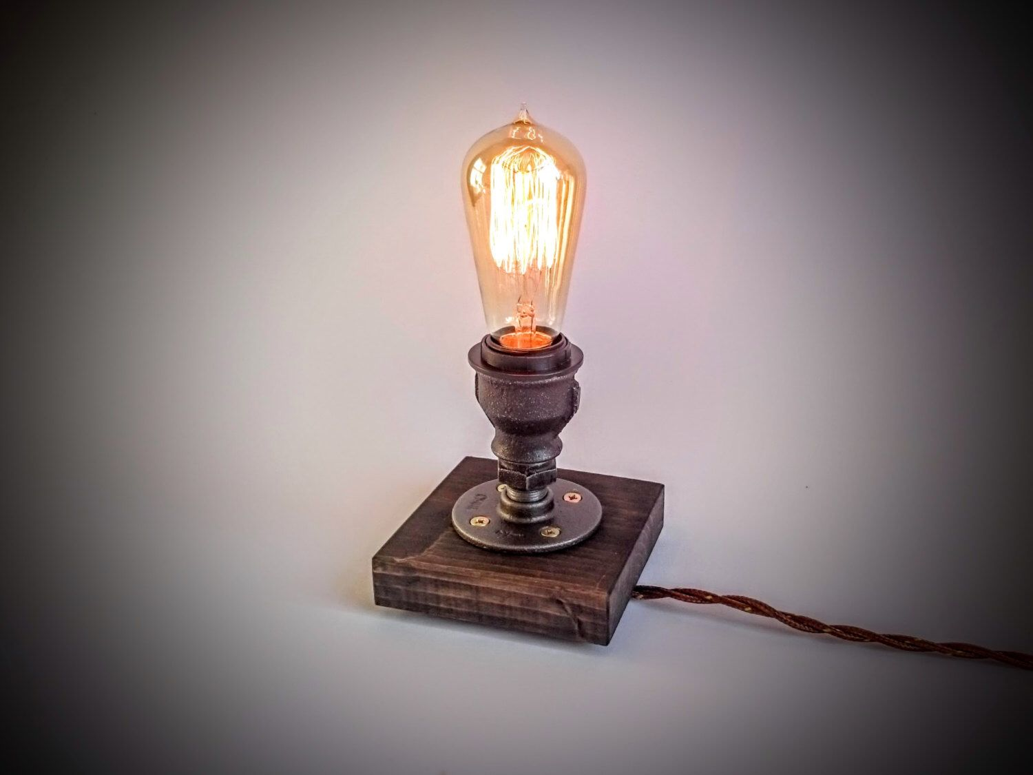 Edison Lamp, Steampunk Lamp, Table Lamp, Industrial Lighting, Plug In Night  Light